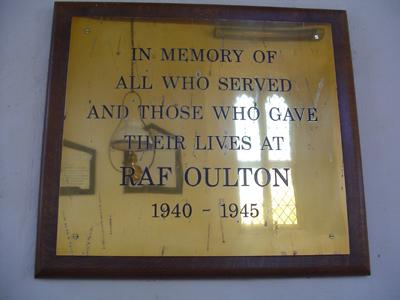 RAF Oulton Plaque